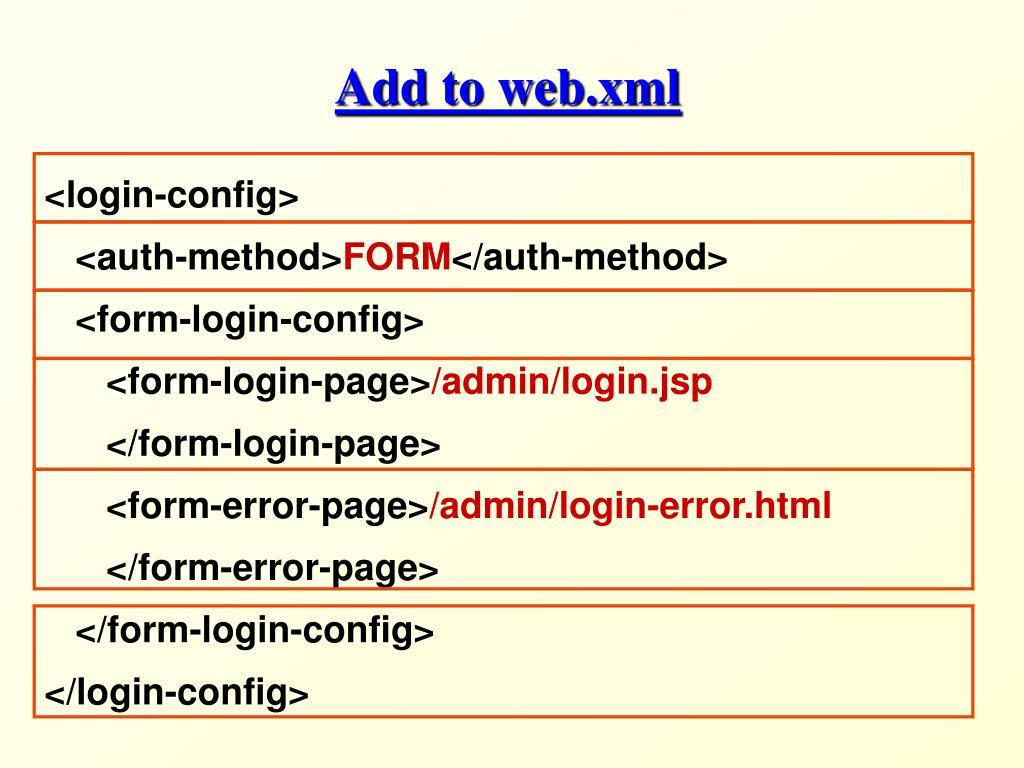 Add to web.xml