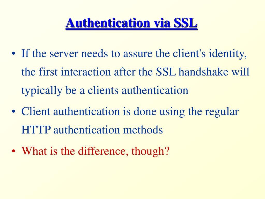 Authentication via SSL