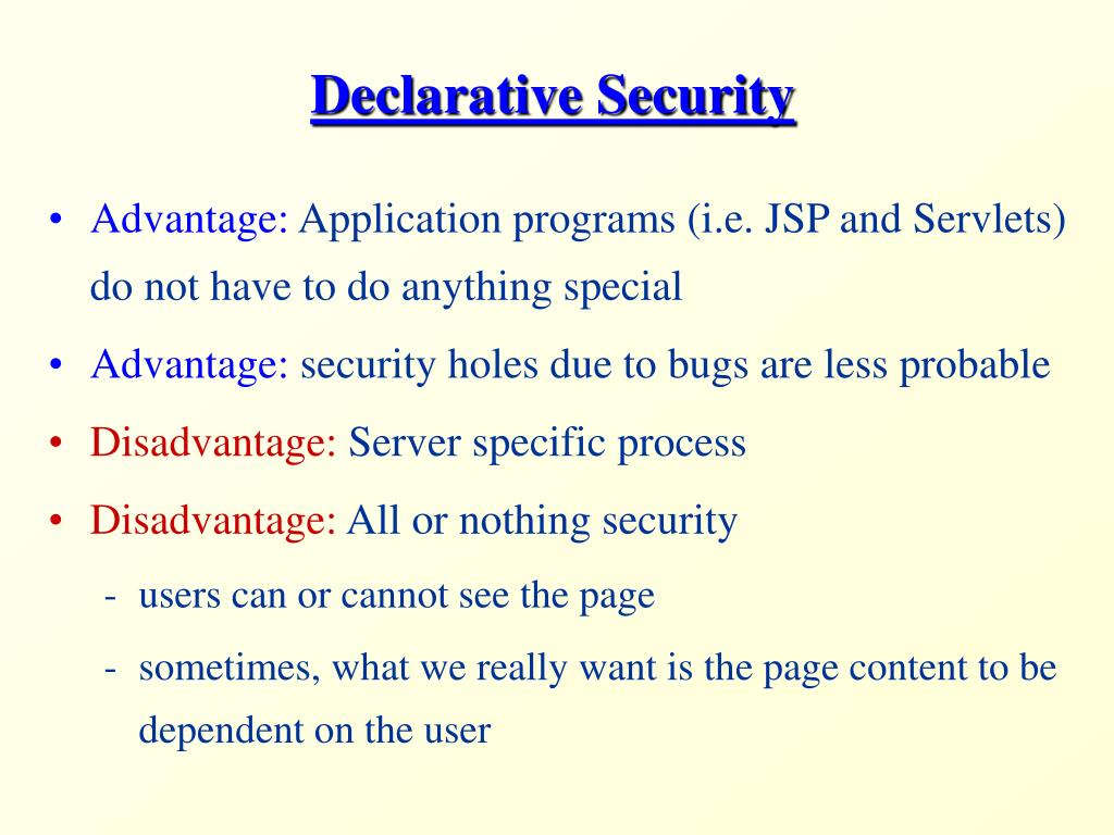 Declarative Security
