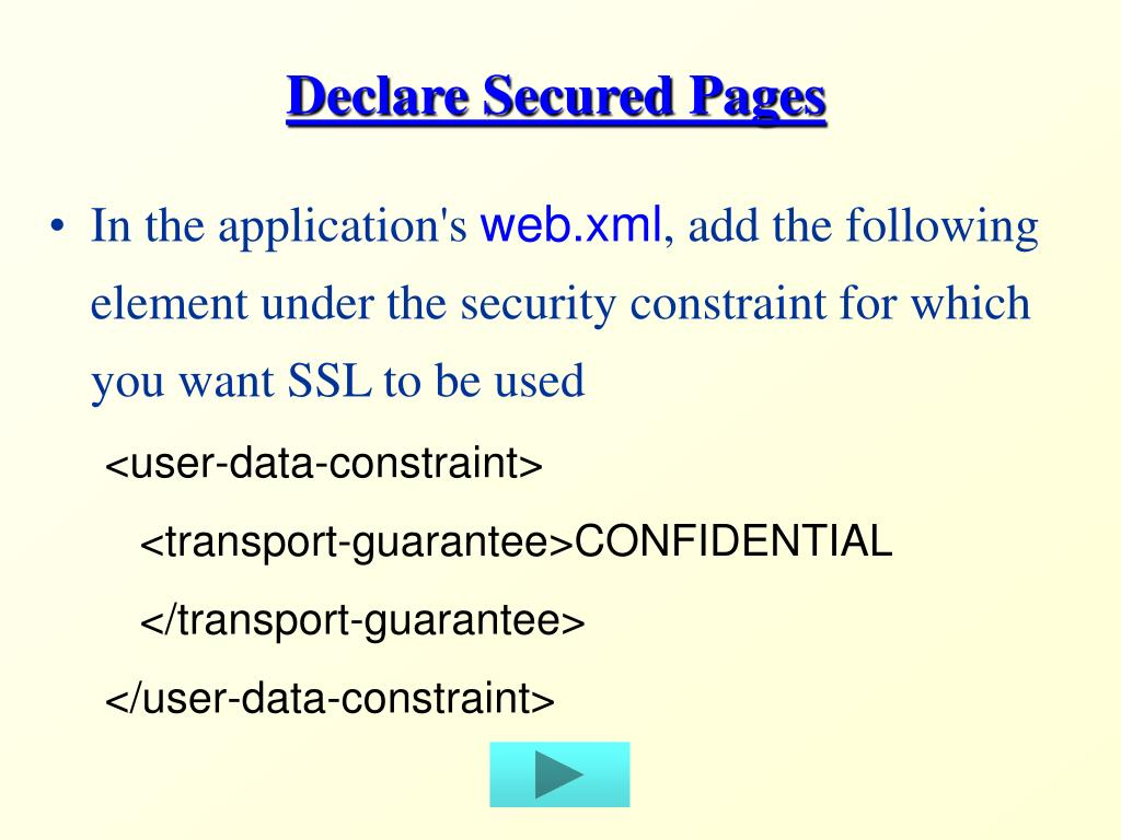 Declare Secured Pages