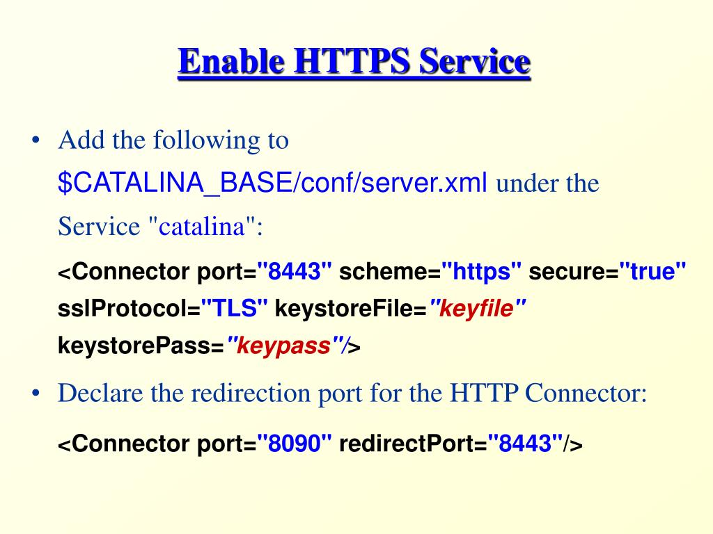 Enable HTTPS Service