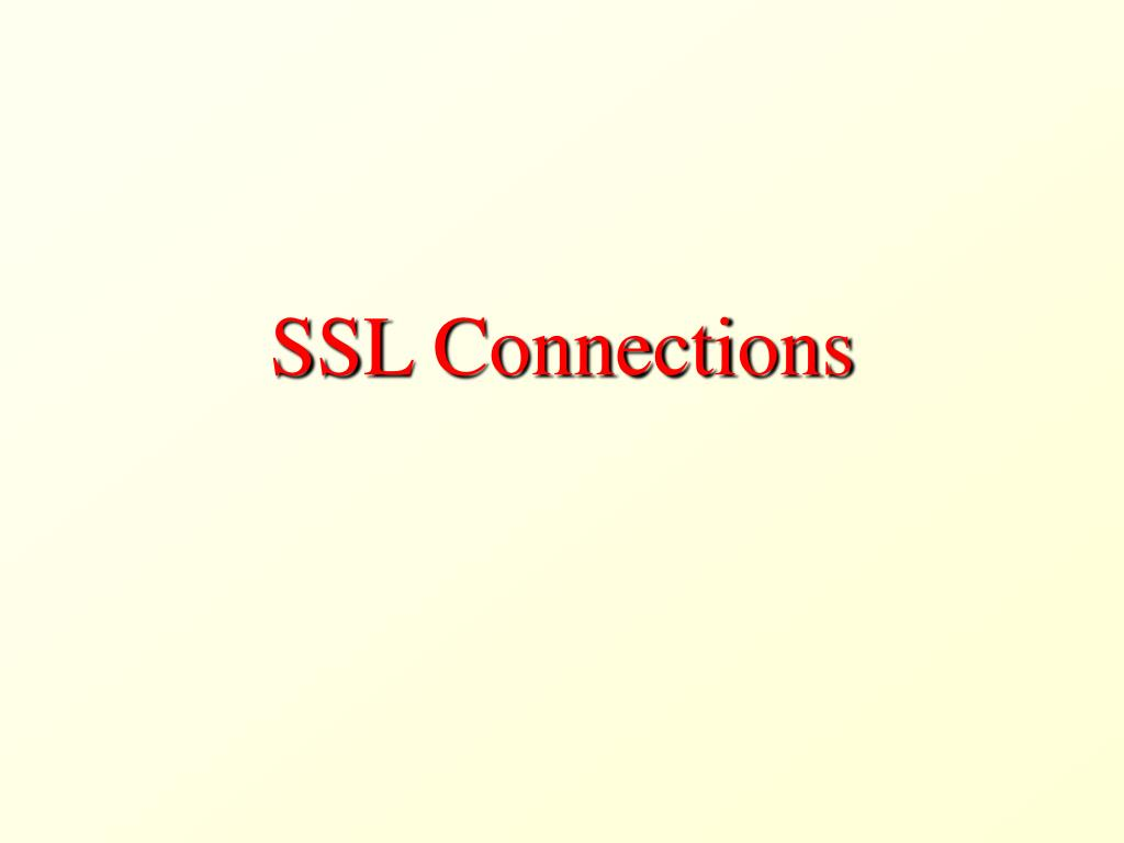 SSL Connections