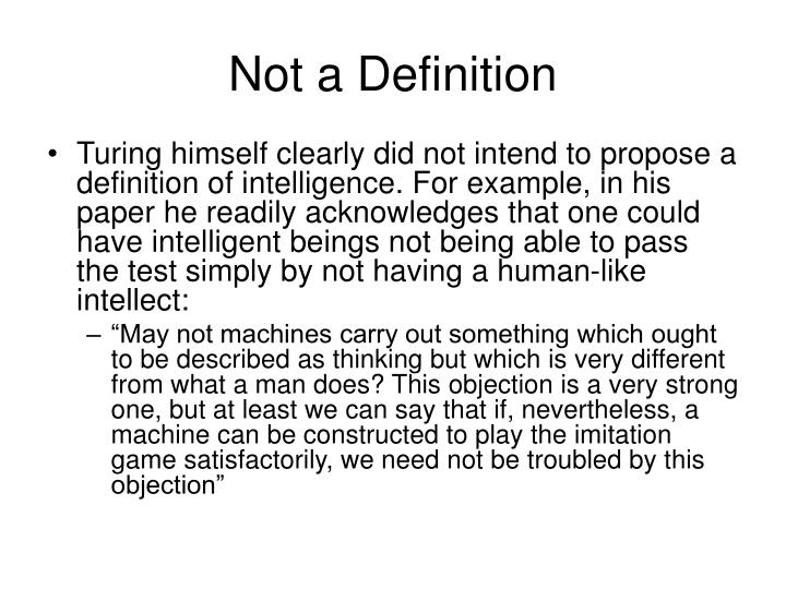 Not a Definition