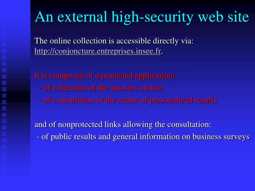 An external high-security web site
