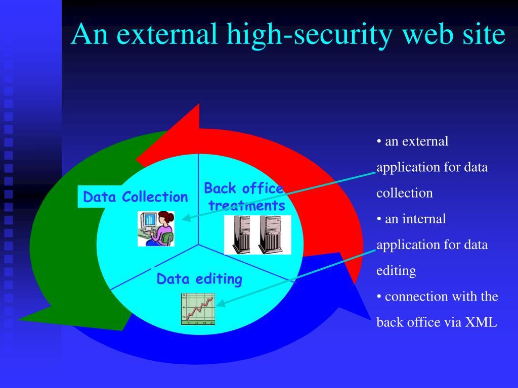 an external application for data collection