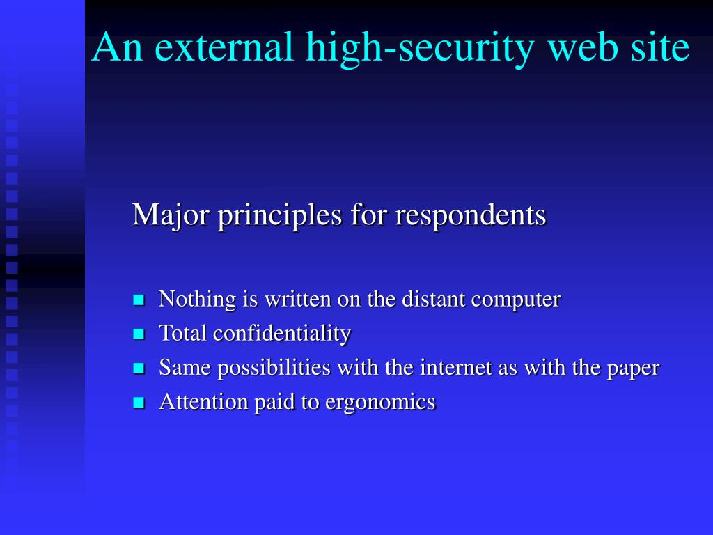 An external high-security web site