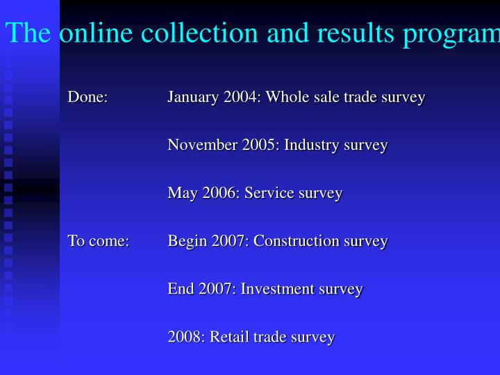The online collection and results program l.jpg