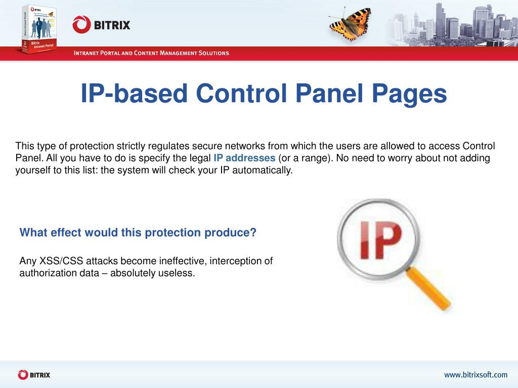 IP-based Control Panel Pages