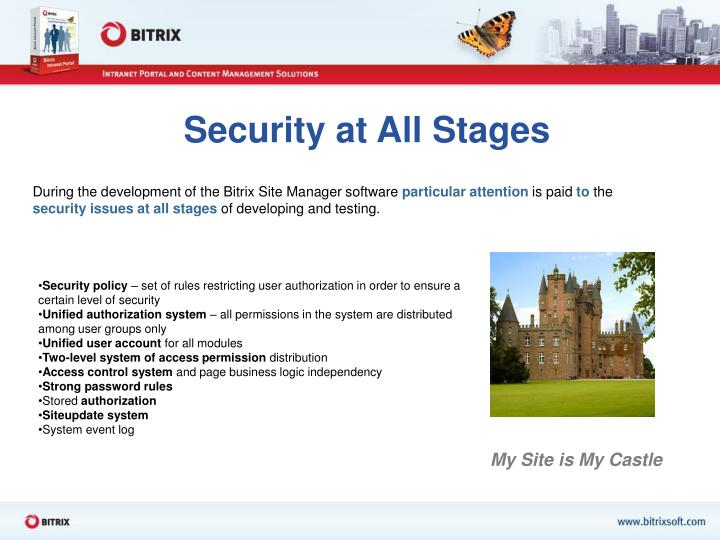 Security at All Stages