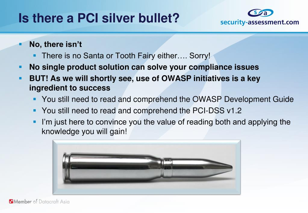 Is there a PCI silver bullet?