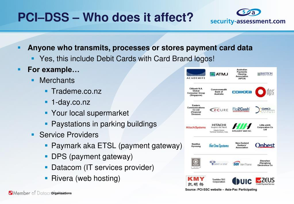 PCI–DSS – Who does it affect?