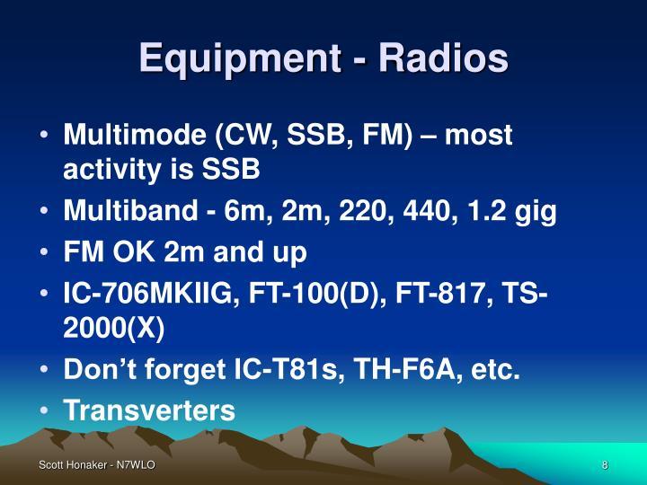 Equipment - Radios