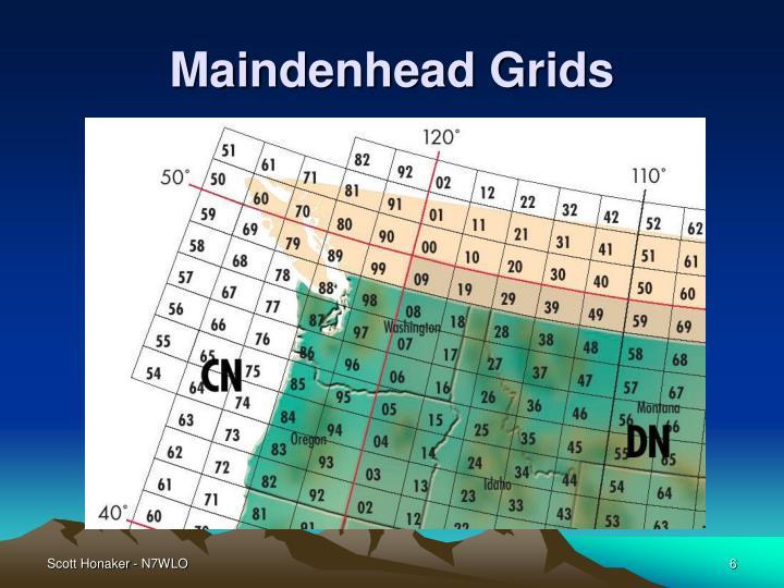 Maindenhead Grids