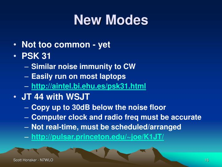 New Modes