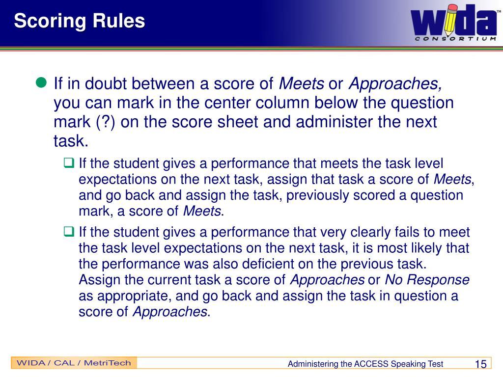 Scoring Rules
