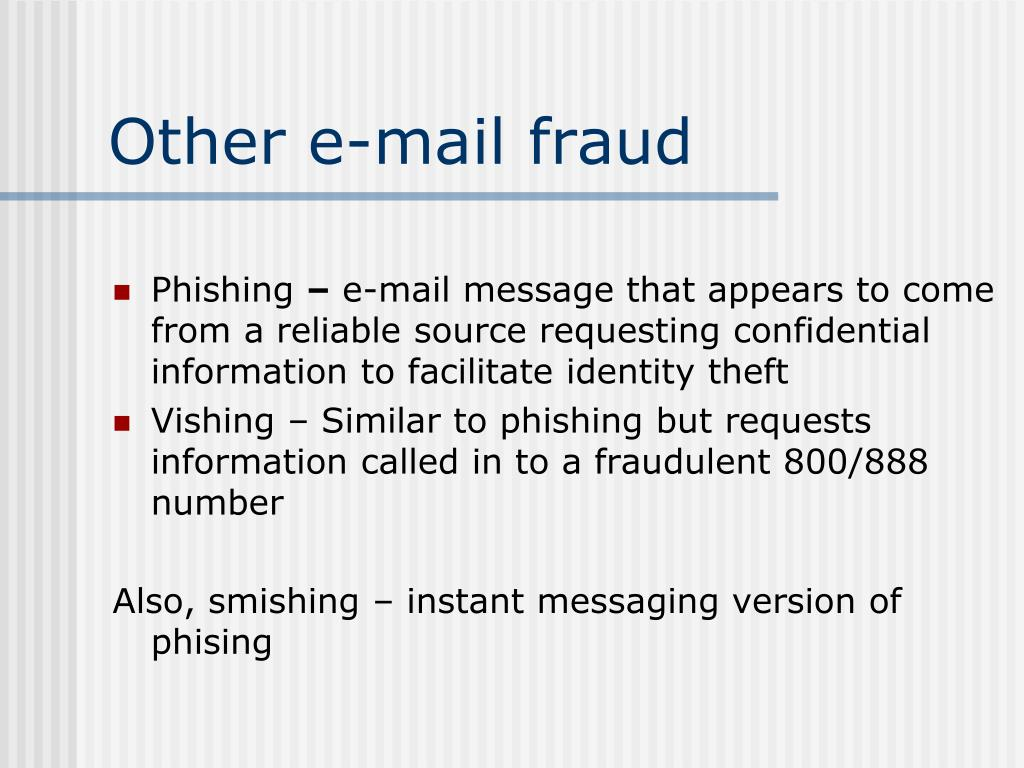 Other e-mail fraud