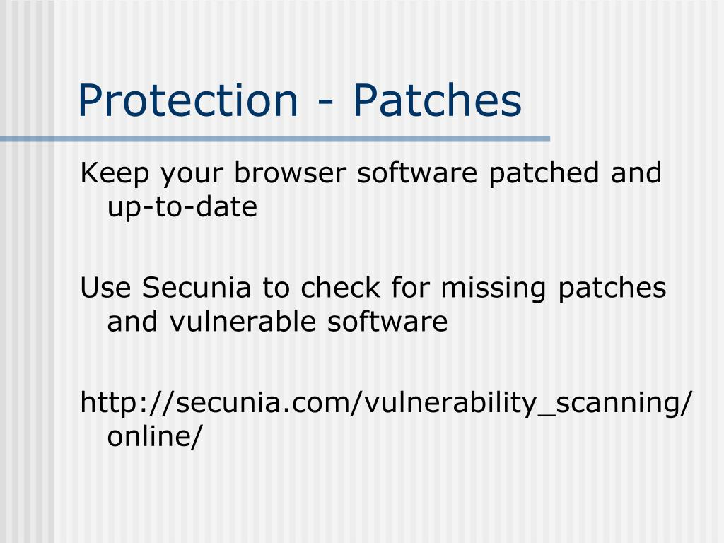 Protection - Patches