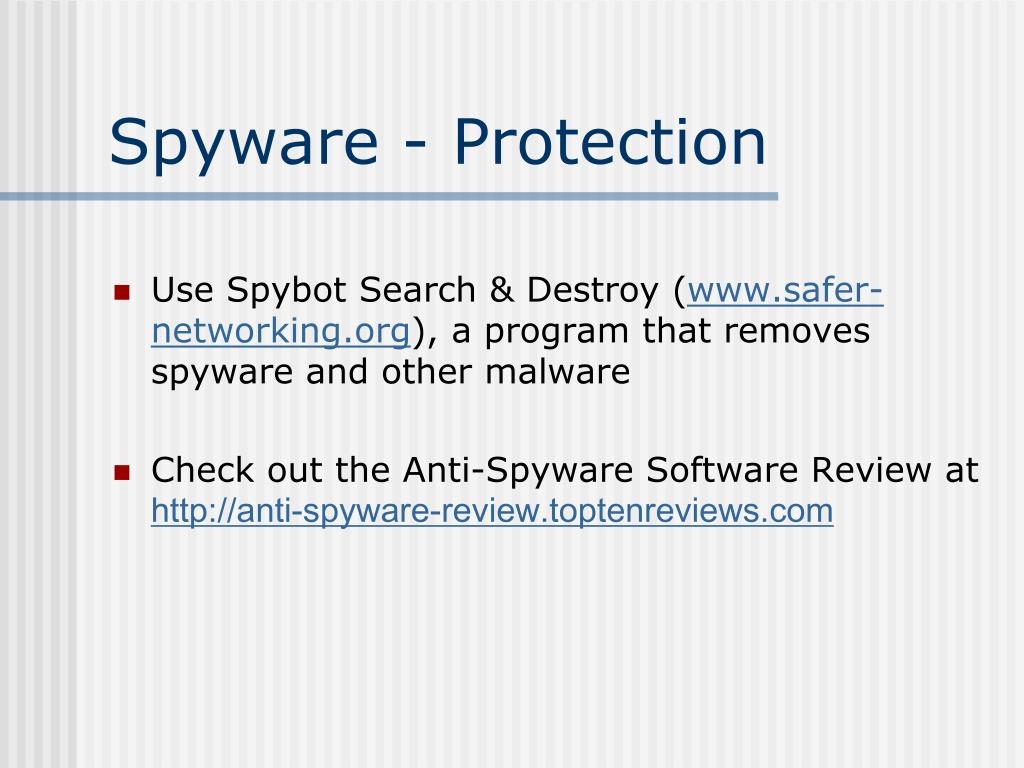 Spyware - Protection