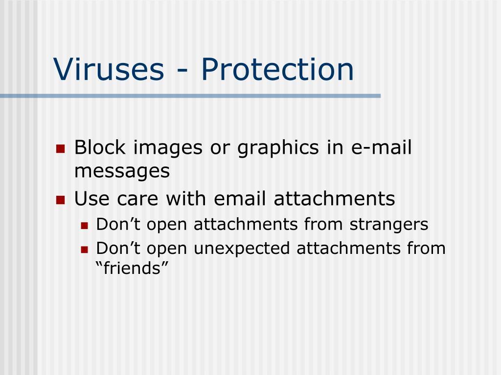 Viruses - Protection