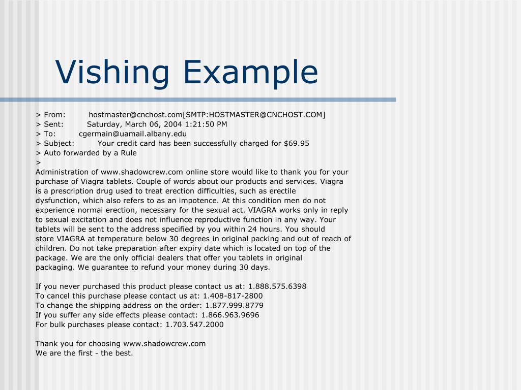 Vishing Example