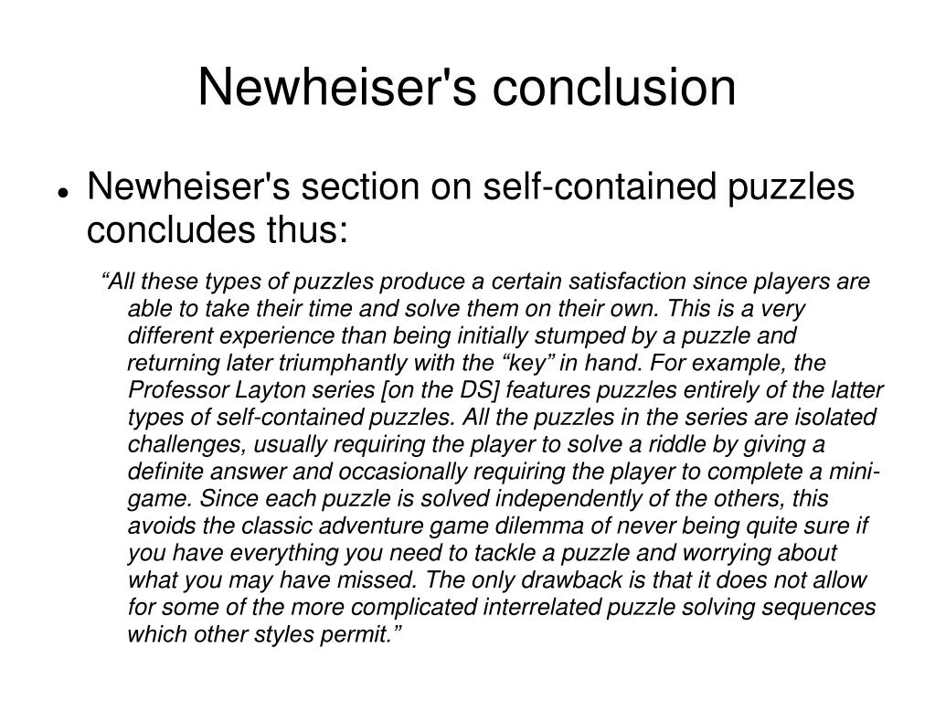 Newheiser's conclusion