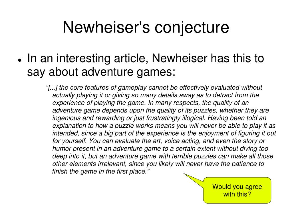 Newheiser's conjecture
