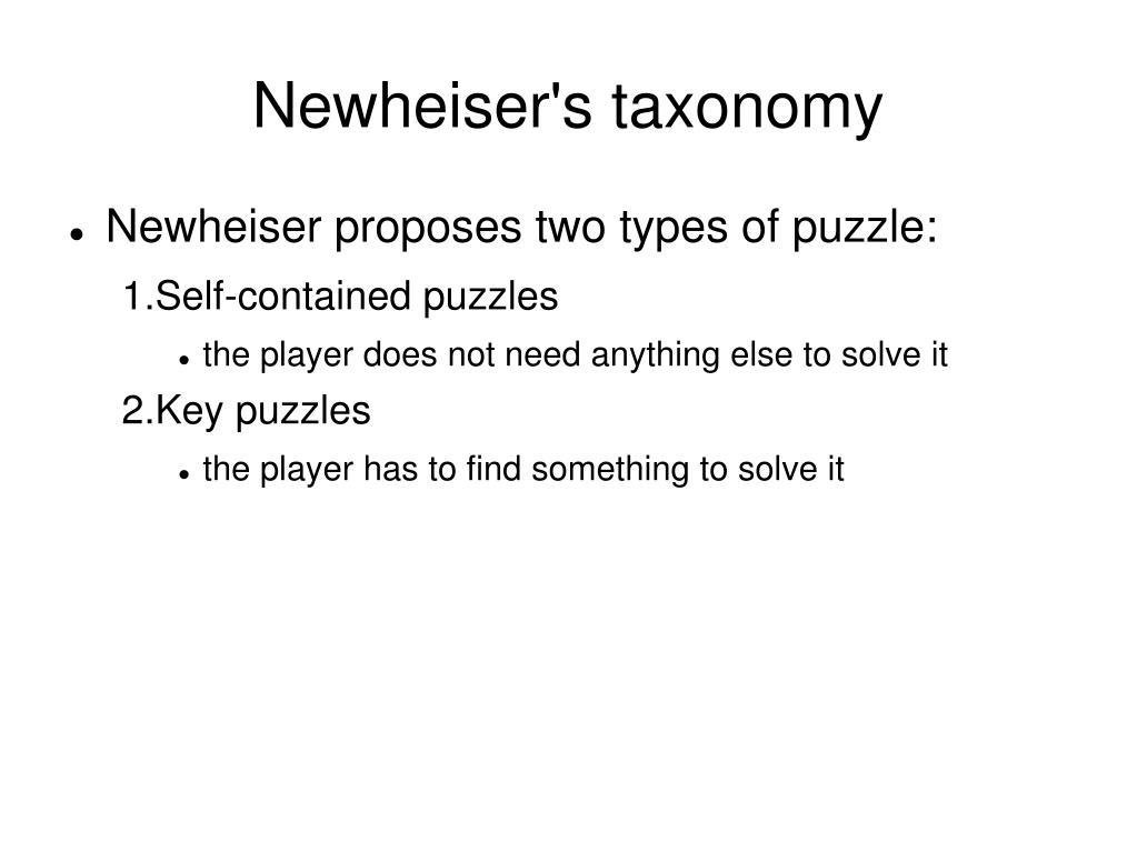 Newheiser's taxonomy