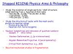 stopped rising physics aims philosophy
