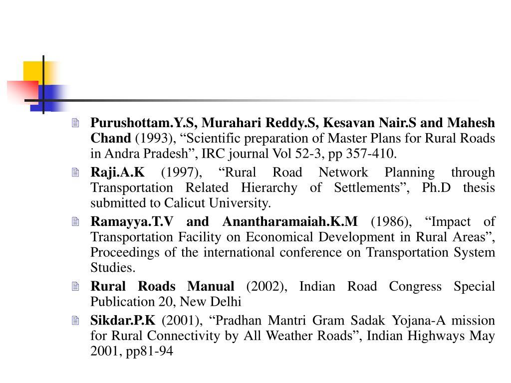 Purushottam.Y.S, Murahari Reddy.S, Kesavan Nair.S and Mahesh