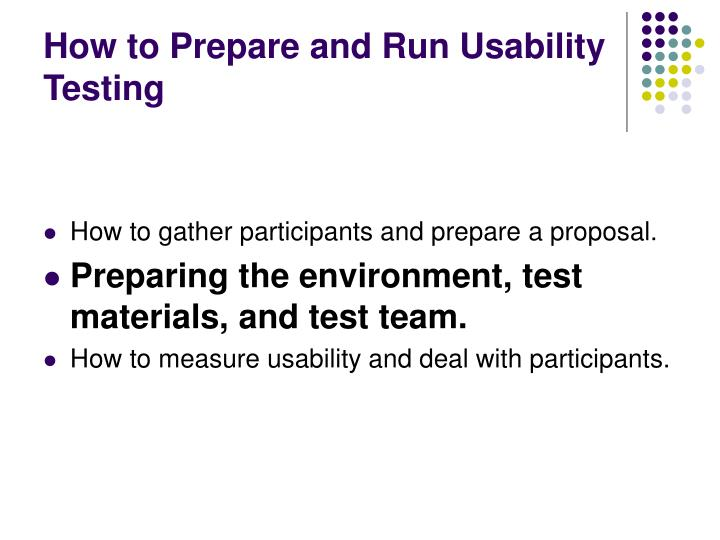How to prepare and run usability testing