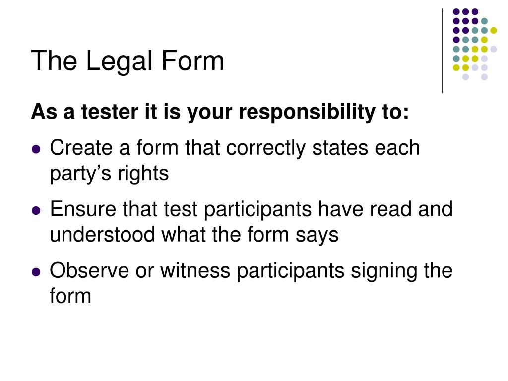 The Legal Form