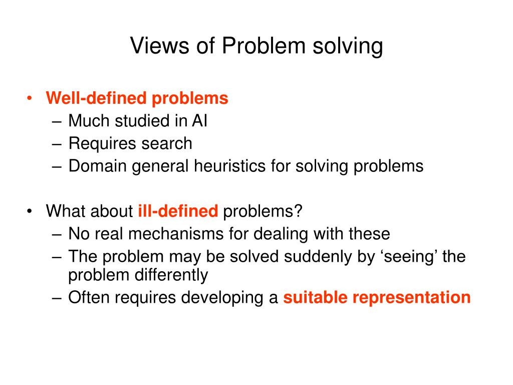 Views of Problem solving