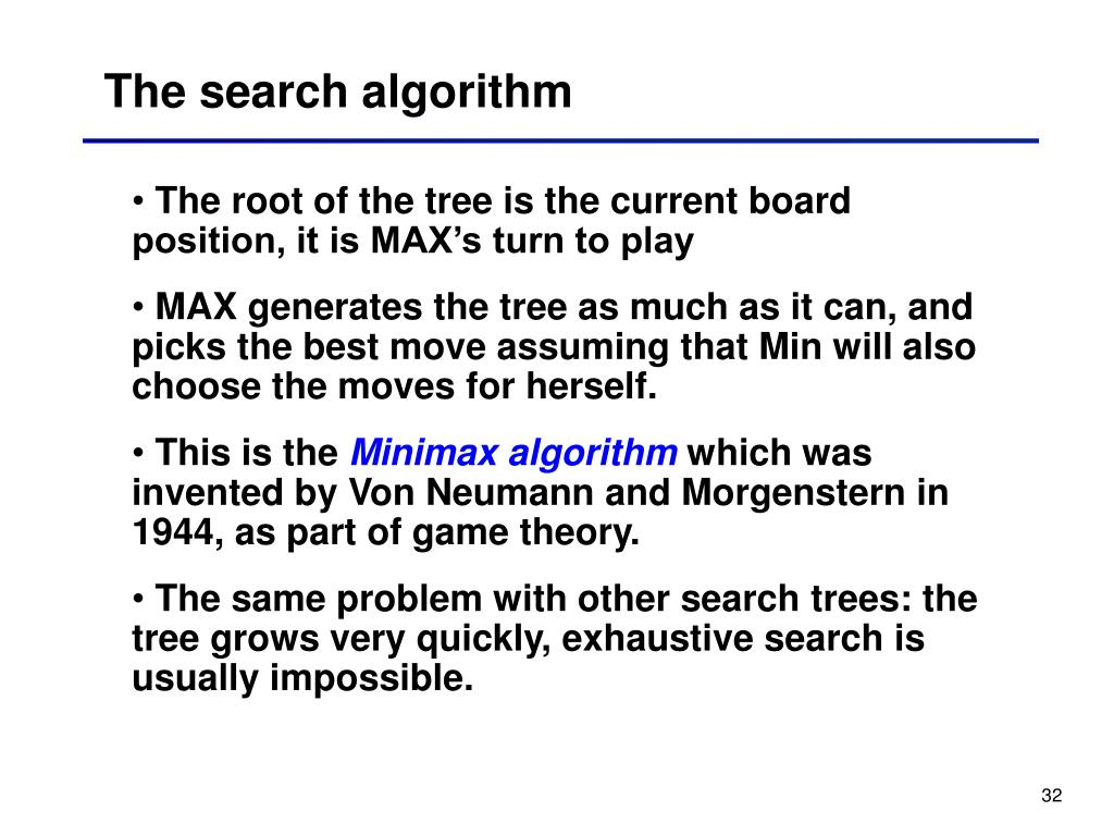 The search algorithm