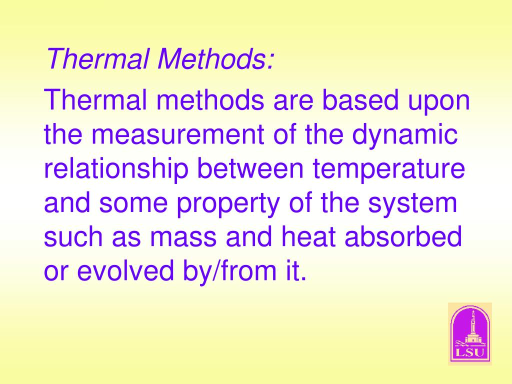 Thermal Methods: