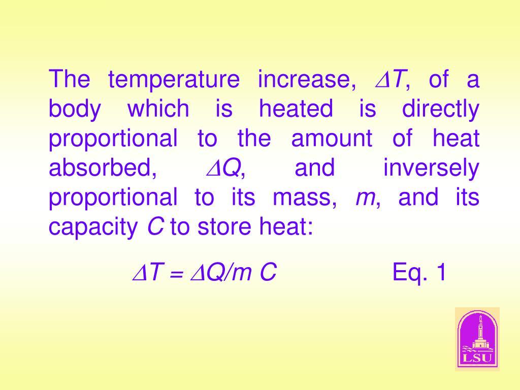 The temperature increase,