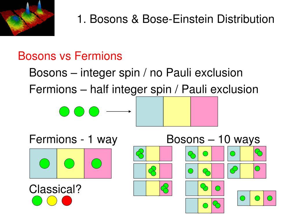 1. Bosons & Bose-Einstein Distribution