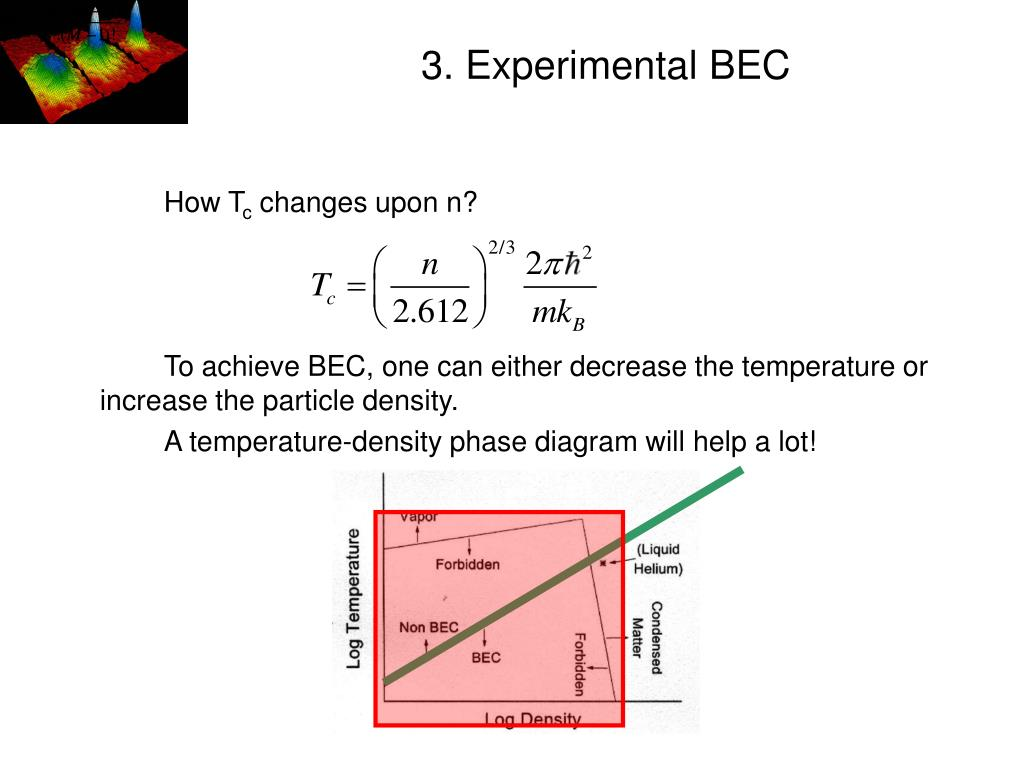 3. Experimental BEC