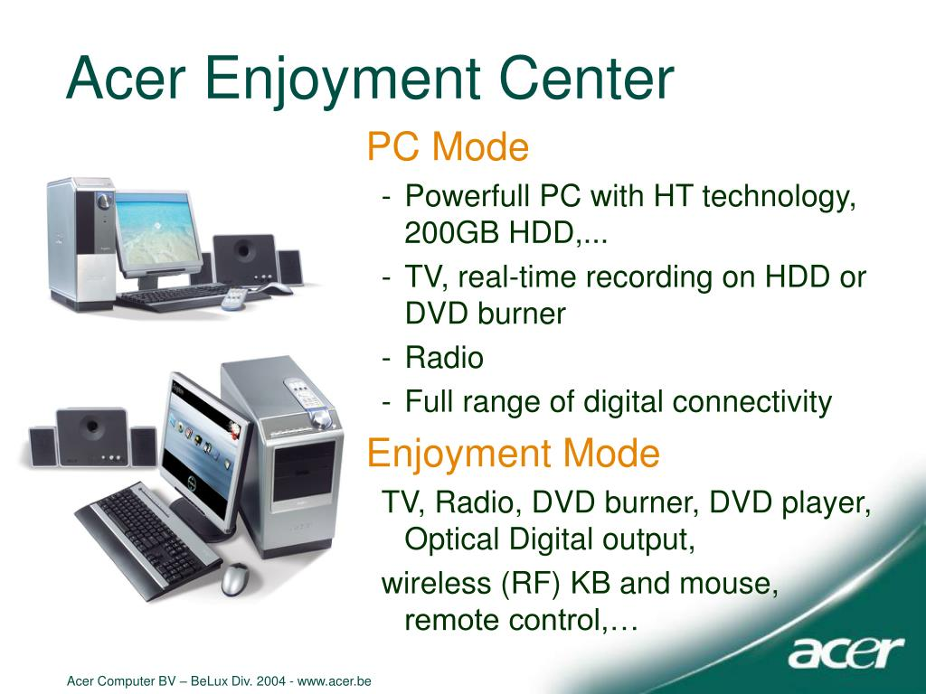 Acer Enjoyment Center