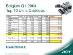 belgium q1 2004 top 10 units desktops