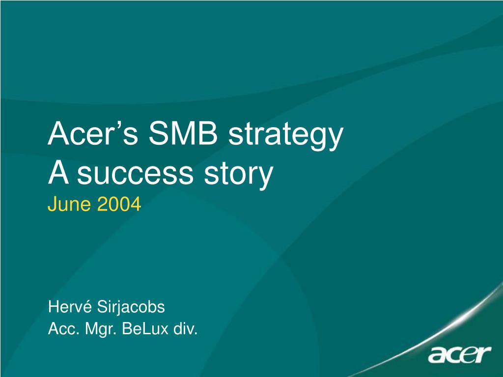 Acer's SMB strategy