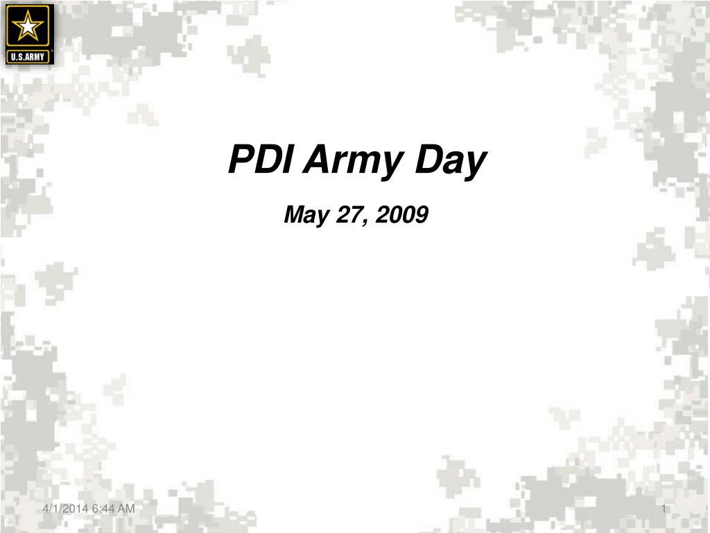 PDI Army Day