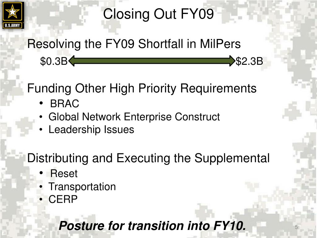 Closing Out FY09