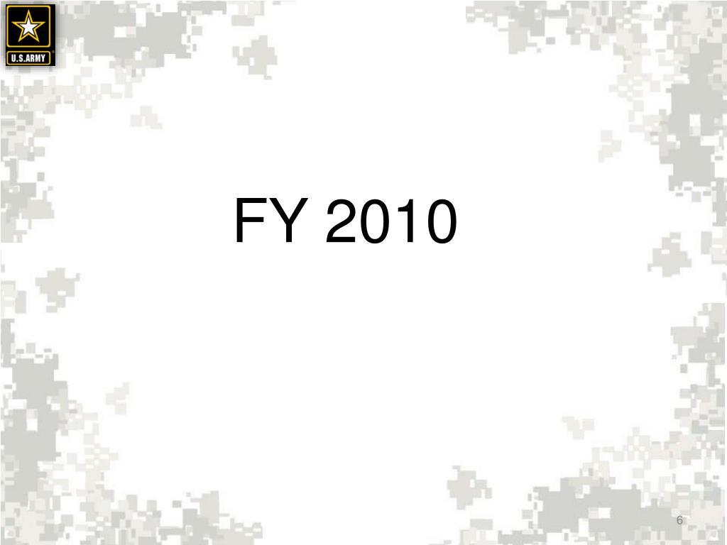 FY 2010