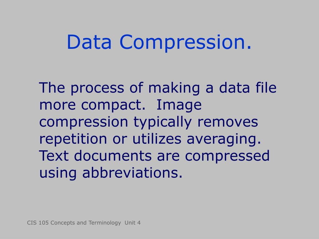 Data Compression.