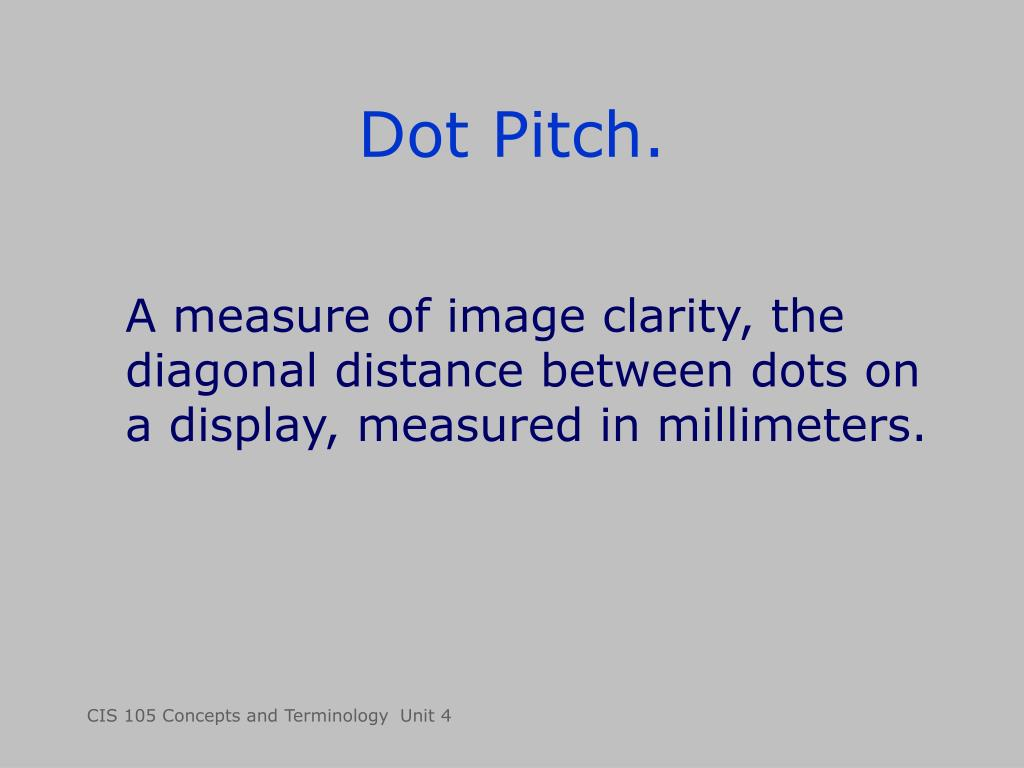 Dot Pitch.
