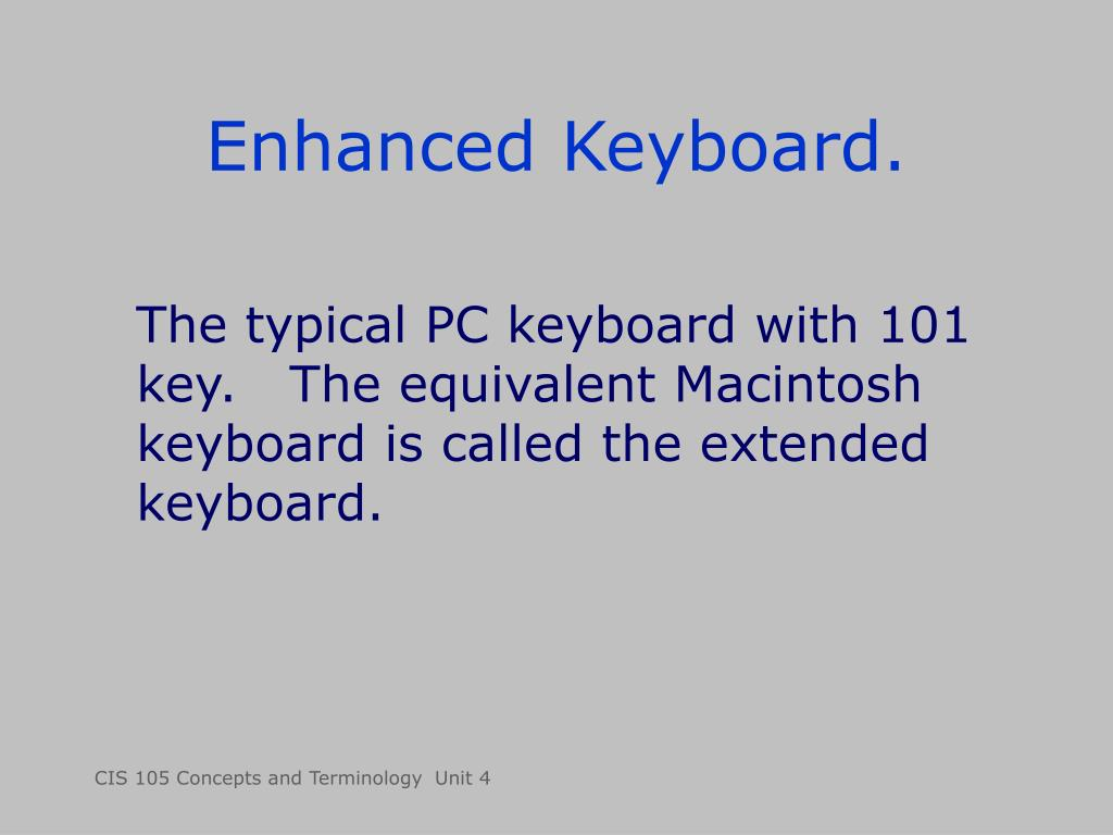 Enhanced Keyboard.