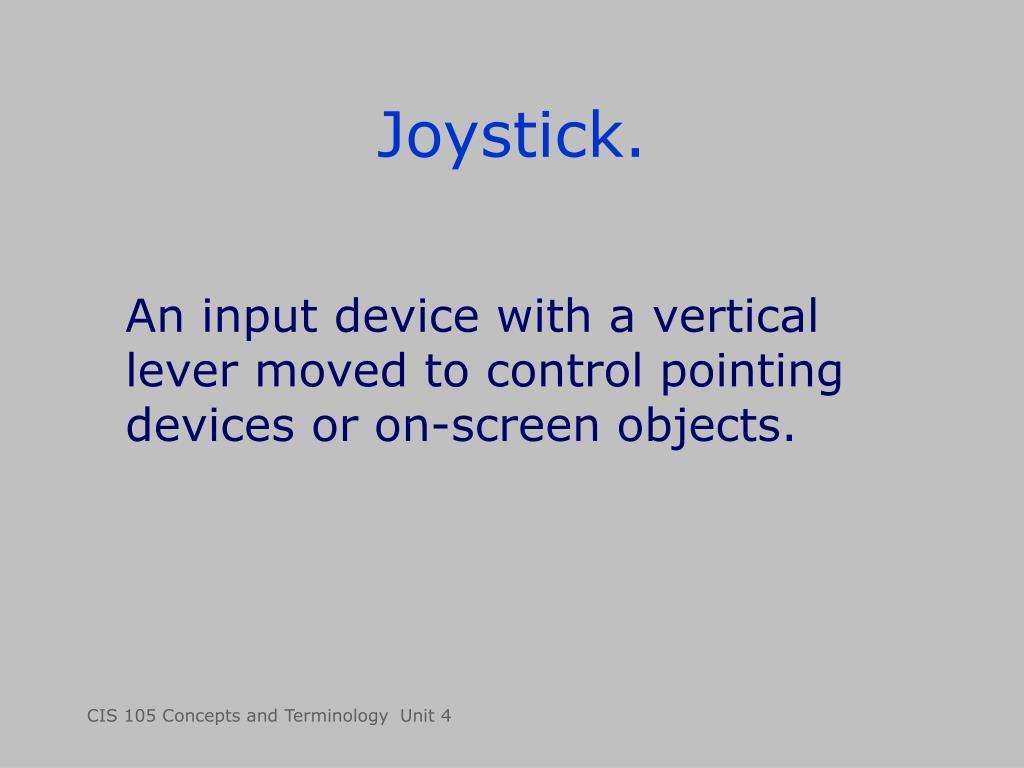 Joystick.
