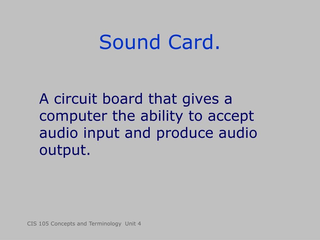 Sound Card.