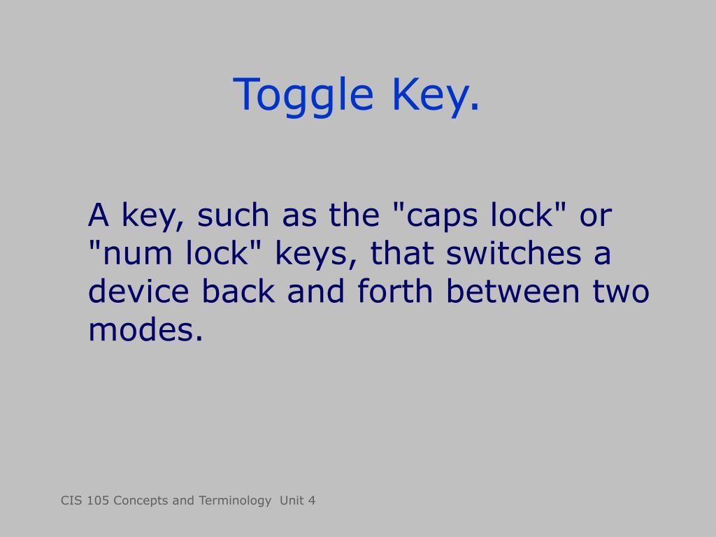 Toggle Key.