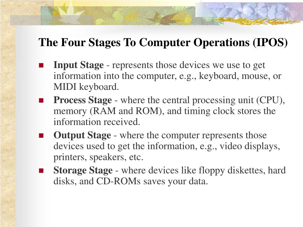 The Four Stages To Computer Operations (IPOS)